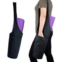 Wholesale yoga mat gym bags resale online - Adjustable Yoga Gym Bag Fits Most Size Yoga Mats Large Storage Wide Sling Carrier with Strap Gift
