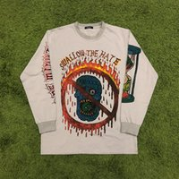 men s t shirts skull al por mayor-Kanye West Season 6 Camiseta de manga larga Hombres Mujeres Graffiti Skull XXXTENTACION Hip Hop Season six T Shirts Streetwear Season 6 T Shirt
