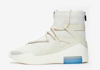 модная обувь оптовых-Новейший 2019 оригинальный дизайнер Fear Of God 1 FOG SA мужская и женская мода кроссовки черный серый спортивная баскетбольная обувь оригинальная коробка