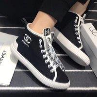 frauen stilvolle schnürschuhe großhandel-Heiße Luxussportschuhe Classic Casual Damenschuhe Schnürschuhe Canvas Stickerei Stylische High-Top-Sneakers von hoher Qualität