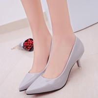 topuklar için iş ayakkabısı toptan satış-Kadınlar Sivri Burun Yüksek Topuklu Seksi Ayakkabı Kadınlar Düğün Ayakkabı Iş Çalışma Kadın Zapatos Mujer Pompalar