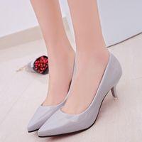 zapatos de trabajo para mujer tacones al por mayor-Mujer Punta estrecha Tacones altos Zapatos Sexy Mujeres Bombas Zapatos de boda Mujer trabajadora Zapatos Mujer