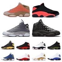piedra gris al por mayor-El más nuevo 13 13s hombres Zapatillas de baloncesto para hombre Atmósfera Gris Clot Sepia Stone Bred Chicago XII Altitude DMP zapatillas tamaño 7-13 dancego
