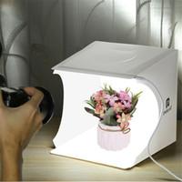 Wholesale led backdrops for sale - Group buy Portable Studio Lighting Mini Box Photography Backdrop LED Light Room Tent