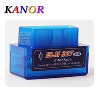 Wholesale mini car scanner bluetooth resale online - KANOR Latest Version Mini ELM327 Auto Scanner ELM Bluetooth OBD2 for Android Torque OBDII Car Vehicle Scan Diagnostic Tool