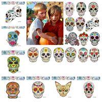 papéis de parede exclusivos venda por atacado-Etiqueta do tatuagem temporária Criativo 40 Estilo adesivo de Halloween Esqueleto de horror Papel de parede adesivo de tatuagem temporária exclusiva T2I5405