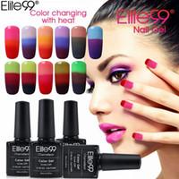 color changing nail gel بالجملة-Elite99 3 اللون الأظافر الأشعة فوق البنفسجية هلام البولندية الحرباء مزاج تغيير هلام البولندية بقيادة هلام الأشعة فوق البنفسجية ورنيش مسمار هلام مانيكير ورنيش 10ML / PC
