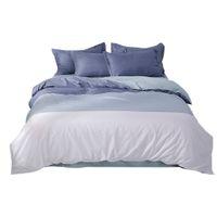 Wholesale large bedding set resale online - Printed Large Simple Solid Color Gradient Bedding Quilt Cover Three Piece Home Textile Set Room Decoration YL10