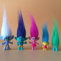 juguete de cosas de payaso al por mayor-acción pvc Eco-Friendly Dreamworks Trolls Juguetes Branch Critter Skitter Figuras conjunto Trolls niños Trolls figura de acción de juguete 5pcs