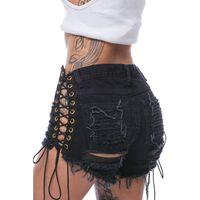frauen sexy heiße kurze jeans großhandel-2019 Frauen Jeans Shorts Hot Pants niedrige Taille sexy Loch Denim Shorts