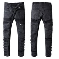 Wholesale jean printed mens for sale - Mens Designer Pants Men s Denim Trousers A Fashion Mens Designer Jeans Pants Male Men Famous Brand Classic Mens Jeans