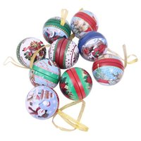 ingrosso scatole di natale rotonde-Natale Candy Box Jar Lovely Clear Natale Santa Elk Pupazzo di neve Sweet Sugar Case Tin Plate Candy Jar Round Creativo Bello
