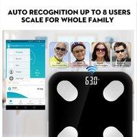 akıllı ölçekli bluetooth toptan satış-Yeni Bluetooth Akıllı terazi kat Vücut Ağırlığı Banyo Ölçeği Akıllı Aydınlatmalı Ekran Ölçeği Ağırlık Vücut Yağ Su Kas Kütle BMI