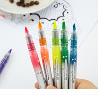 Direct-liquid Color Fluorescent markers PVP Multicolor Fluorescent Pen Students 'Office Notes highlighters for school