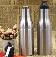 ingrosso maniche di coperta-Vacuum Cooler Bottle 12 oz Argenteo Keep Warm Cup Acciaio inossidabile Durevole Manicotto isolante Doppio Deck Mugs Gadget da esterno CCA11508 10 pezzi