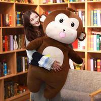 ingrosso bambole giganti di scimmie-simpatico peluche bambola per il tempo libero cuscino per dormire peluche gigante morbido peluche per regalo ragazza 47inch 120cm