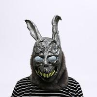 animal de traje dos desenhos animados venda por atacado-Animal Dos Desenhos Animados Coelho Máscara Donnie Darko FRANK O Traje Do Coelho Cosplay Halloween Party Máscara Assustadora Suprimentos
