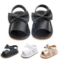 ingrosso poco a piedi-Alta qualità 0-18 mesi Baby Fashion per bambine Flower Elastic Tape Neonate Walking Shoes Bambino impara a camminare