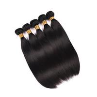 malaysisches reines haar malaysia groihandel-Brasilianisches glattes Haar natürliche Farbe 3 Bündel seidige glatte Welle mit unverarbeiteten Jungfrau-Haar-Verlängerungen des Spitzeschließens