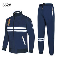 sıcak spor giyim toptan satış-Sıcak Satmak erkek Hoodies ve Tişörtü Spor Adam Polo Ceket pantolon Koşu erkek Eşofman P2021 Suits