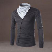 9405bf58ad2 New 2019 Men Stylish Fit Casual Cotton T-shirts Warm Shirt Long Sleeve Tops  High Quality Fashion Dropshipping