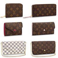 bolsa de roca al por mayor-bolsos de diseño carteras de embrague de diseñador bolsos monederos bolsos de las mujeres bolso de hombro titular de la tarjeta monedero diseñador cuero genuino con caja T41