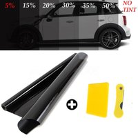 Wholesale car rolls for sale - Group buy yentl mx50cm VLT Car Auto Home Glass Window Tint Tinting Film Roll With Scraper For Car Side Window House Commercial Solar Pr
