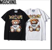 camisas de homens bonitos venda por atacado-2019 novo verão desgaste dos homens logotipo popular dos homens desgaste dos desenhos animados urso digital impressão direta T-shirt da juventude estilo bonito gênero-neutr