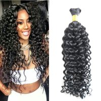 10-30 Inch afro kinky curly Human Braiding Hair Bulk No Weft 1PC 100g natural black no weft human hair bulk for brai Human Hair Bundles