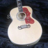 jumbo akustikgitarre groihandel-JEAN12180 12 Strings J200H 43 '' Jumbo Elektro-Akustikgitarre Fishman 101 Glühplattenherd Mahagoni Hals Grover Tuner-Gold-Hardware