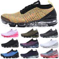 ingrosso linea gialla-Designers fly line 2019 Scarpe da corsa uomo flair Cuscino triplo nero Donna Run Utility calzino Sport Chaussures scarpe da ginnastica Sneakers US 5.5-11