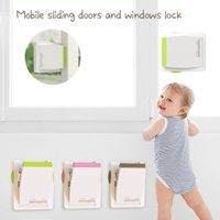 Wholesale kids drawers handles resale online - Kids Baby Sliding Window Door Guard Stopper Child Proof Drawer Handle Lock Children Safety Care Home Room Accessory K4UE