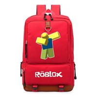 172d2b6248882 WISPop Roblox Oyunları Sırt Çantası Çocuklar Öğrenci Okul Çantaları Seyahat  Omuz Çantası Laptop Çantaları Gençler Için Bookbag