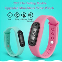 Wholesale walk pedometer resale online - Men Watch Bracelet Pedometer Calorie Counter Digital LCD Walking Distance horloges mannen relojes inteligentes para hombre