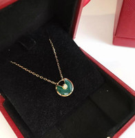 Wholesale chalcedony necklaces for sale - Group buy Designer AMULETTE DE Jewelry Necklace Silver Mini Green Chalcedony Amulet Necklace Woman High Quality Jewelry