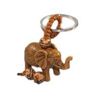 nouveau porte-clés chanceux achat en gros de-New Classic Lucky Men femmes éléphant Sculpture Pendentif Porte-clés Porte-clés Chaîne Cadeau