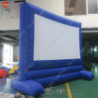 Wholesale garden screens resale online - Outdoor inflatable movie screen for backyard garden theater projective oxford cloth inflatable movie screen