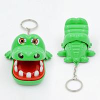 spaß spielzeug spiele großhandel-Heißer Verkaufs-neue kreative Small Size Krokodil-Mund-Zahnarzt-Bissen-Finger-Spiel Funny Schlüsselanhänger Spielzeug für Kinder spielen Fun
