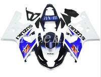 motocicletas gsxr plásticos venda por atacado-Novo kit de carenagens de moto de plástico ABS Fit para Suzuki GSXR 600 750 04 05 GSX-R600 R750 2004 2005 Livre personalizado azul branco