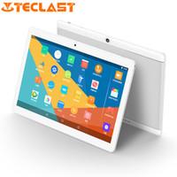 Wholesale teclast tablets dual camera resale online - 10 inch Tablet PC Teclast X10 Quad Core MTK6580 GB ram GB Rom IPS Dual cameras WCDMA GSM GPS WIFi Andorid