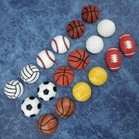 neodym magnete bälle großhandel-Fußballbasketball-Volleyballball Kühlschrankmagnetsatz Starker Neodymkühlraummagnet Bürofoto schwarzes Whiteboard magnetischer Aufkleber