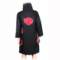 Wholesale itachi uchiha full cosplay online - Accessories Cosplay Costumes Akatsuki Cosplay Costume Anime Naruto Costumes Uchiha Itachi Cloak Deidara Black Cape Party Disguise Adult