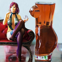 óculos 3d sexy venda por atacado-100% NOVO Marca 3D Sexy Lady Homens Durable Double Wall Transparente Whisky Wine óculos de tiro Vidro Big Chest Beer Cup 700ml presente amantes