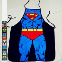 engraçado despido venda por atacado-3D Engraçado Cozinha Cozinha Avental Sexy Naked Man Mulheres Avental Jantar CHURRASCO Partido Avental De Cozimento Cozinha Ferramentas Aventais de Super-heróis Homem Aranha Batman