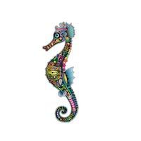 baston aksesuarları toptan satış-Şeker Kamışı Hipokampus Çıkartmalar Renkli Araba Aksesuarları Vinil Çıkartmaları Kişiselleştirilmiş Aksesuarları