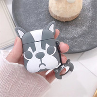 Wholesale cute earphones for sale - Group buy For Apple AirPods Cute Dog TPU Case Protective Shockproof Charging Portable Earphone Cover Cases With Ring Holder
