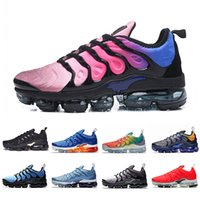 ingrosso squalo all'aperto-nike air vapormax plus tn 36-45 Air BHYPER VIOLET Cuscino TN Plus Running Atletica Scarpe Donna Uomo RED SHARK TOOTH Arcobaleno Nero bianco Sport Outdoor Sneakers