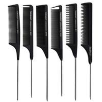 outils de salon utilisés achat en gros de-Peigne à queue anti-statique de rat professionnel en métal peigne à cheveux salon de coiffure utiliser outil de beauté des cheveux Toni Guy