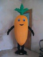 disfraz de mascota de verduras al por mayor-Traje de la mascota de la zanahoria de Halloween Verduras de dibujos animados Personaje del tema del animado Fiesta de carnaval de navidad Disfraces Disfraces Traje adulto