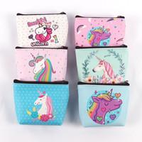 çocuklar için fermuarlı cüzdanlar toptan satış-SıCAK SATıŞ Kız Çocuklar Coin Çantalar Tutucu Kawaii Hayvan Unicorn Flamingo Kadınlar Mini Değişim Cüzdan Para Çanta Çocuk Fermuar Kese hediye 20 adet /